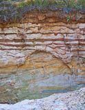 Wall clay pit. Slice a small clay pit wall Stock Images