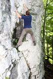Wall and climber Royalty Free Stock Images
