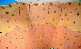 The wall for climbers. Royalty Free Stock Photo