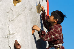 Wall Climbing Royalty Free Stock Photography