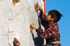 Wall Climbing royalty free stock photography
