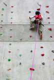 Wall Climbing Stock Image