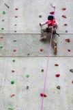 Wall Climbing Stock Image