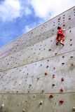 Wall Climbing Stock Photo