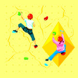 Wall climbing kids Royalty Free Stock Images