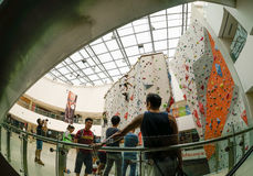 Wall Climbing Popular Sport in Asia Stock Photos