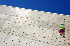 Wall Climbing Royalty Free Stock Photo