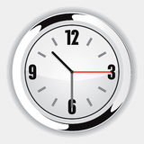 Wall Clock. White Wall Clock Vector Drawing Vector Illustration