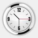 Wall Clock. White Wall Clock Vector Drawing Stock Photography