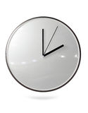 Wall Clock. A 3D wall clock placed on a white background Stock Image