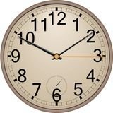 Wall clock. Classic wall clock. Vector. Eps 10 Royalty Free Stock Photography