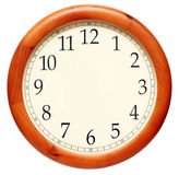 Wall clock. An isolated wall clock image Royalty Free Stock Photos