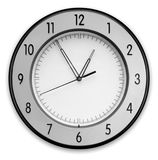Wall Clock. Wall Clock,  on white background Stock Image