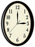 Wall clock. Illustration over white background Stock Photo