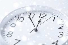 Wall clock. Business and time concept - wall clock over white stock photos