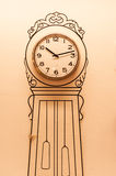 WALL WITH CLOCK Royalty Free Stock Photography