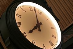 Wall Clock. An electric wall clock royalty free stock photo