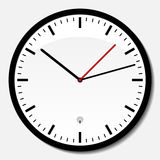 Wall clock. Radio controlled office wall clock royalty free illustration