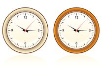 Wall clock stock illustration
