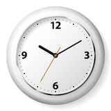 Wall clock. Vector illustration of a white wall clock stock illustration
