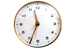Wall clock. Round wall analog clock with hours minutes and seconds hands royalty free stock photos