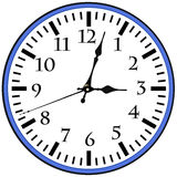 Wall Clock with Arrows. Isolated on white background Stock Image