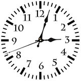 Wall Clock with Arrows. Isolated on white background Royalty Free Stock Photo