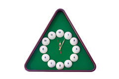 Wall clock in billiards style. Stock Image