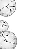 Wall Clock border frame Stock Photo