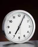 Wall Clock with brushed metal Stock Photos