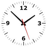 Wall clock and calendar on a white background Royalty Free Stock Photo