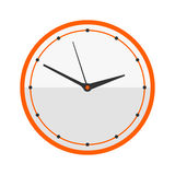 Wall clock circle sign with chronometer pointer tool and deadline stopwatch speed office alarm timer minute watch vector Royalty Free Stock Photos