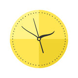 Wall clock circle sign with chronometer pointer tool and deadline stopwatch speed office alarm timer minute watch vector. Wall clock circle sign with chronometer vector illustration