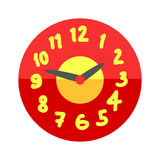 Wall clock circle sign with chronometer pointer tool and deadline stopwatch speed office alarm timer minute watch vector. Wall clock circle sign with chronometer royalty free illustration