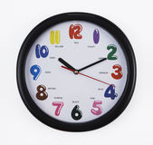 Wall clock with clipping path Royalty Free Stock Image