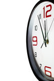 Wall clock close up with copy space Stock Photos