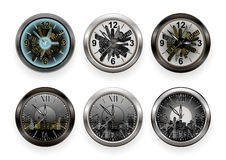 Wall clock collection Royalty Free Stock Photo