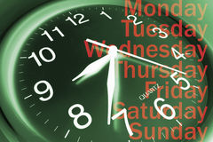 Wall Clock and Days Royalty Free Stock Photo