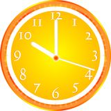 Wall clock, dial beginning of the working day Stock Image