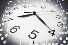 Wall Clock and Dominoes Stock Photo
