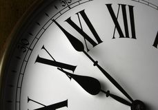 Wall Clock Face Stock Photo