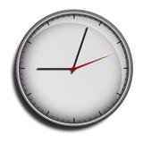 Wall clock face grey Royalty Free Stock Image