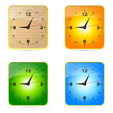 Wall clock. Stock Photo