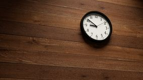 Wall clock fast moving. Wall clock timelapse fast moving wood wall stock footage