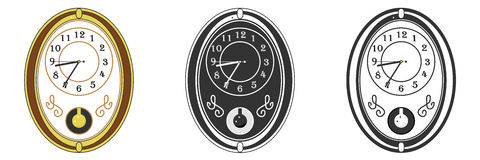 Wall Clock. Flat design, illustration stock illustration