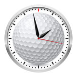 Sports Wall Clock. Wall clock. Golf style. Illustration on white background Stock Photo
