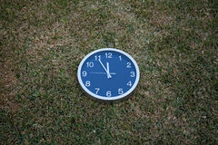 Wall clock in the grass Royalty Free Stock Photography