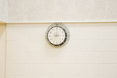 Wall Clock on Gym Wall Stock Images