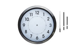 Wall clock. Without hands so you can make up what ever time you want on clock Royalty Free Stock Images