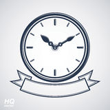 Wall clock with an hour hand on dial. Stock Image